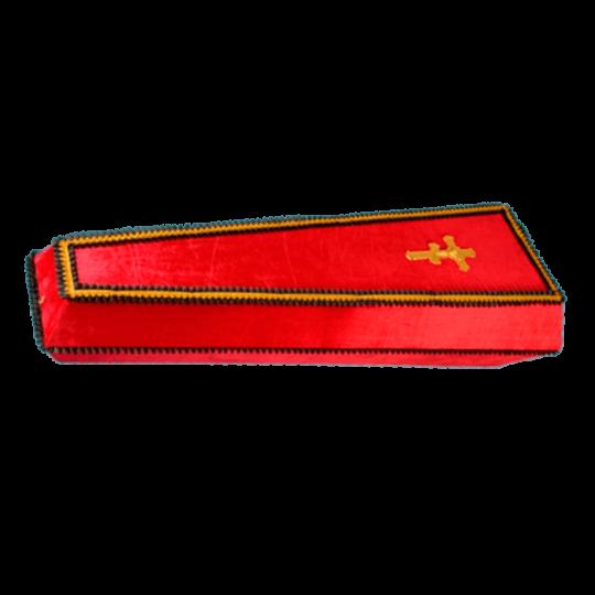 Гроб №5 (бархат) красный
