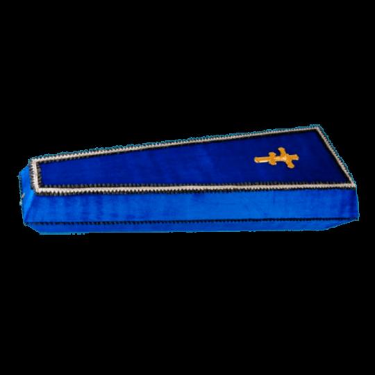 Гроб №5 (бархат) синий