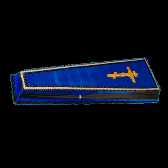 Гроб №6 (бархат) синий
