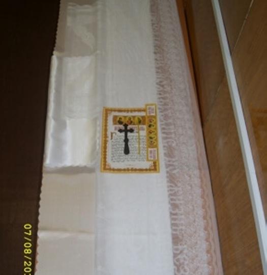 Набор погребальный (белый гипюр)
