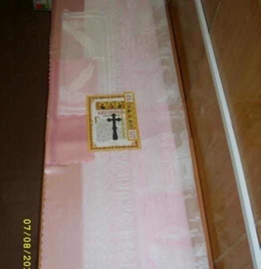 Набор погребальный (розовый гипюр)