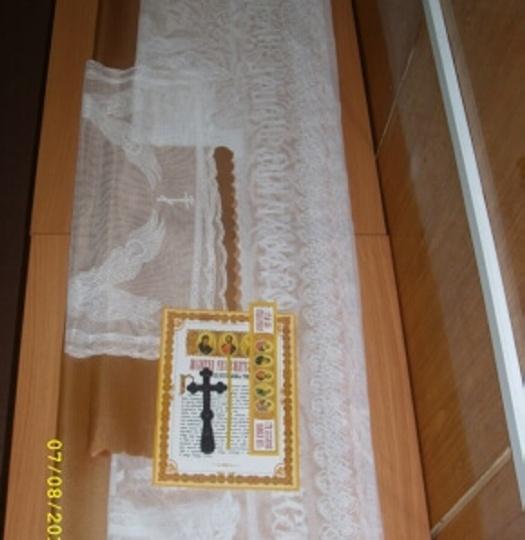 Набор погребальный (темно-золотой гипюр)